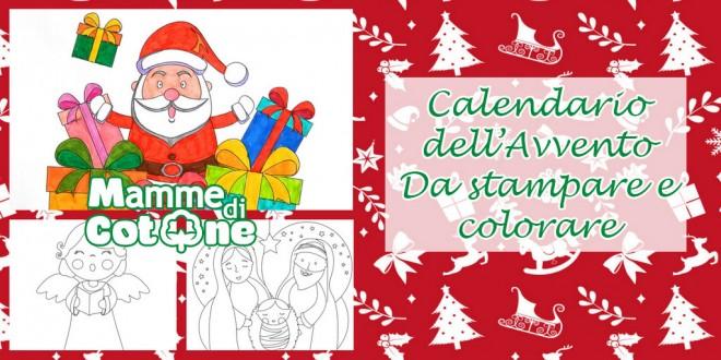 Calendario Dell Avvento Da Stampare E Colorare Mamme Di Cotone